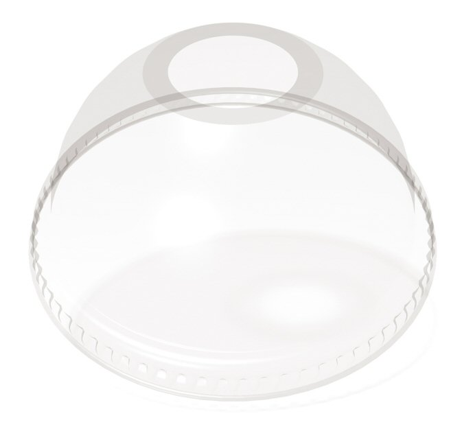 12/20 oz. Compostable Plastic Dome Lid (100/Pack)