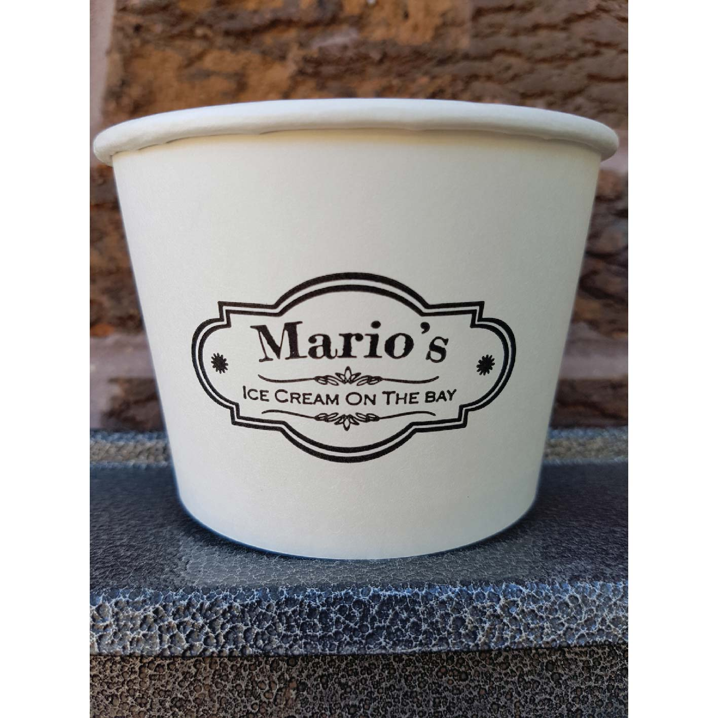 12 oz. Custom Printed Recyclable Gelato Paper