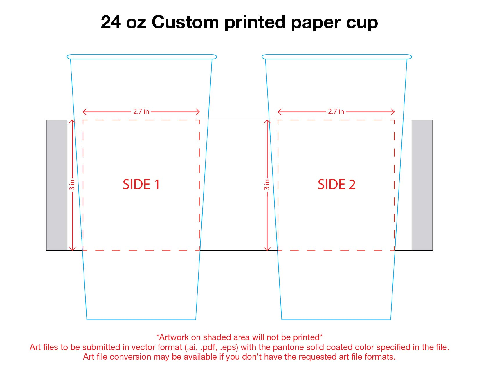24 oz. Custom Printed Recyclable Paper