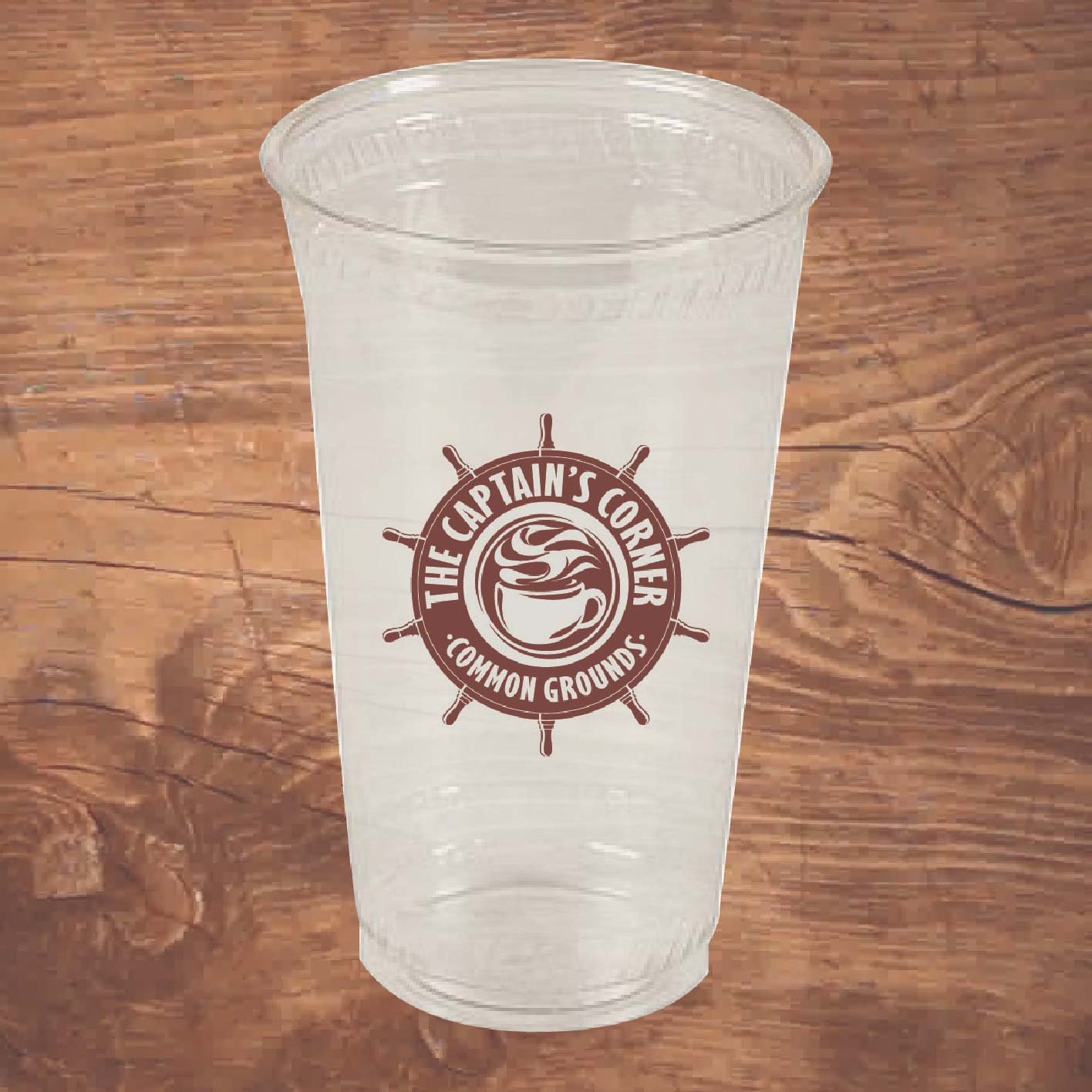 24 oz Custom Printed Compostable Plastic