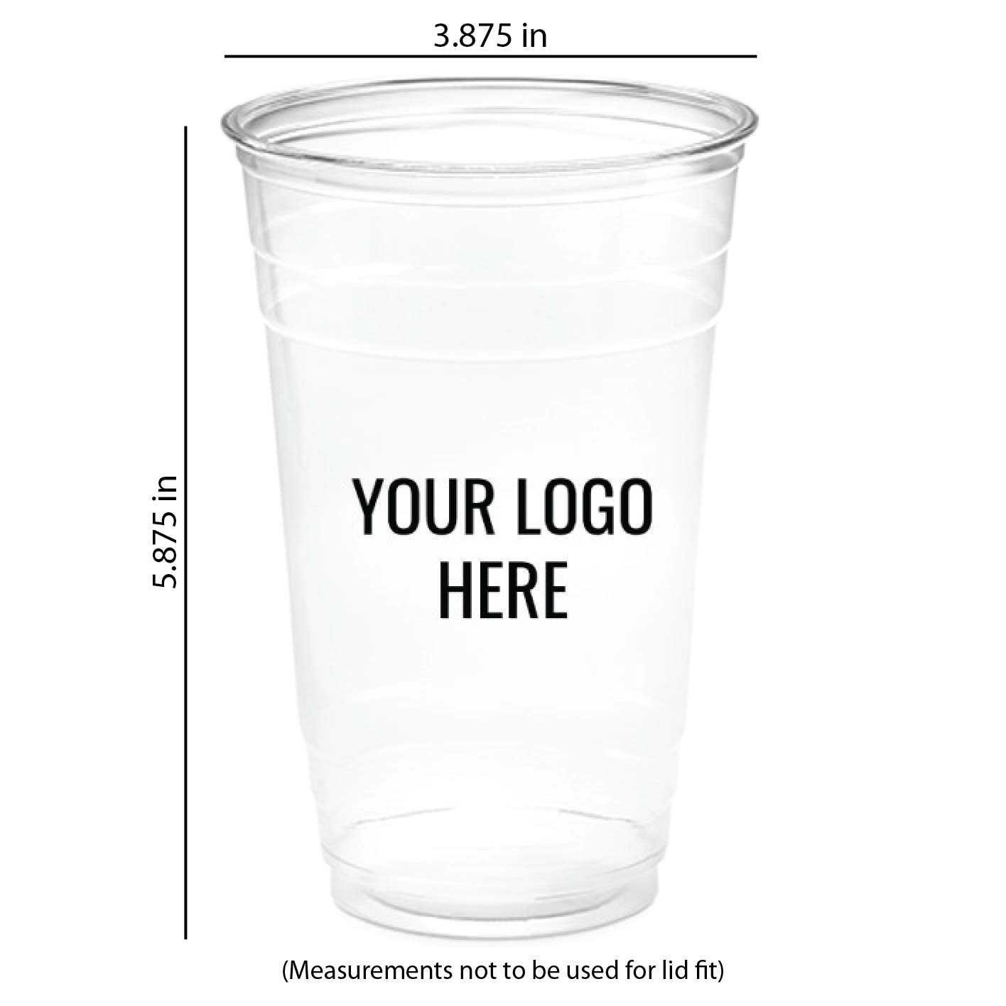 24 oz. Custom Printed Recyclable Plastic