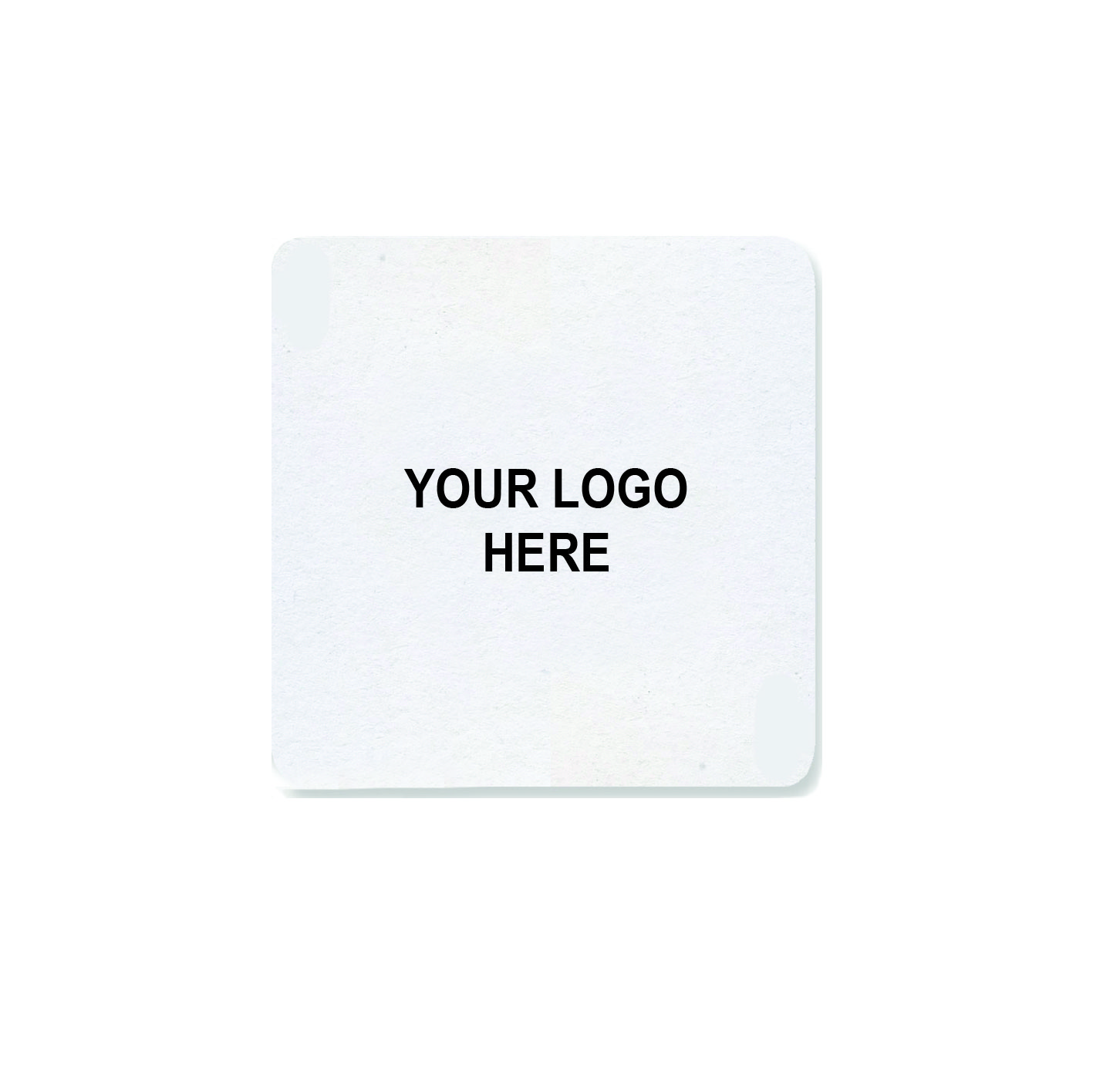 "4"" Custom Printed Medium-Weight Square Coaster"