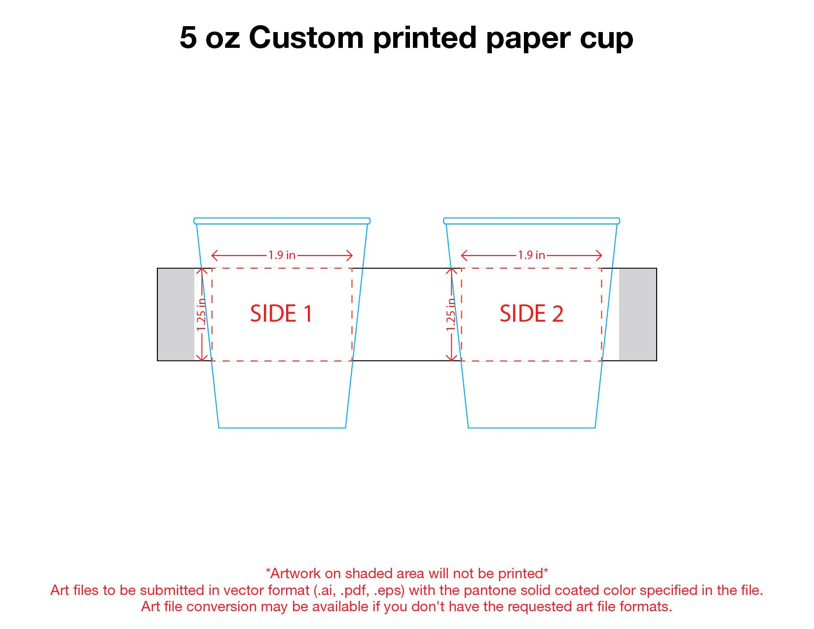 5 oz. Custom Printed Recyclable Paper