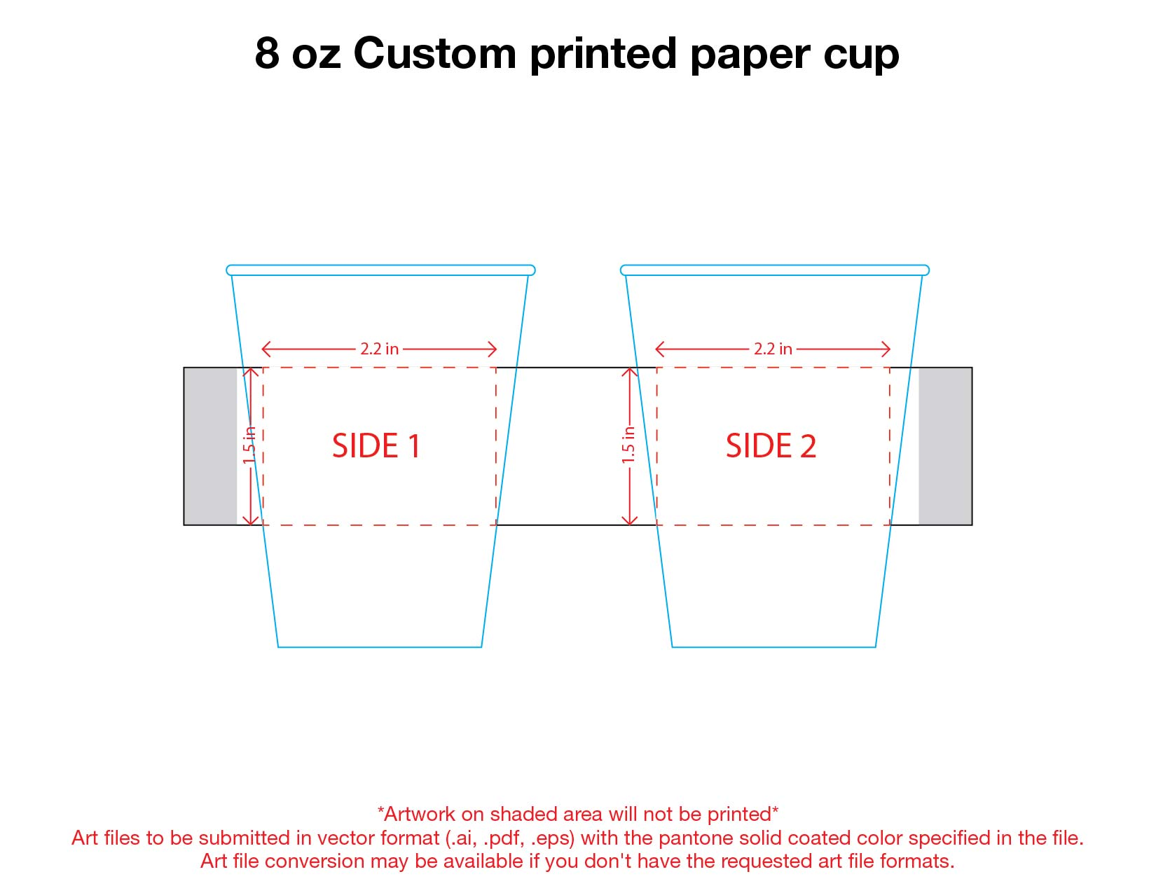 8 oz. Custom Printed Recyclable Paper
