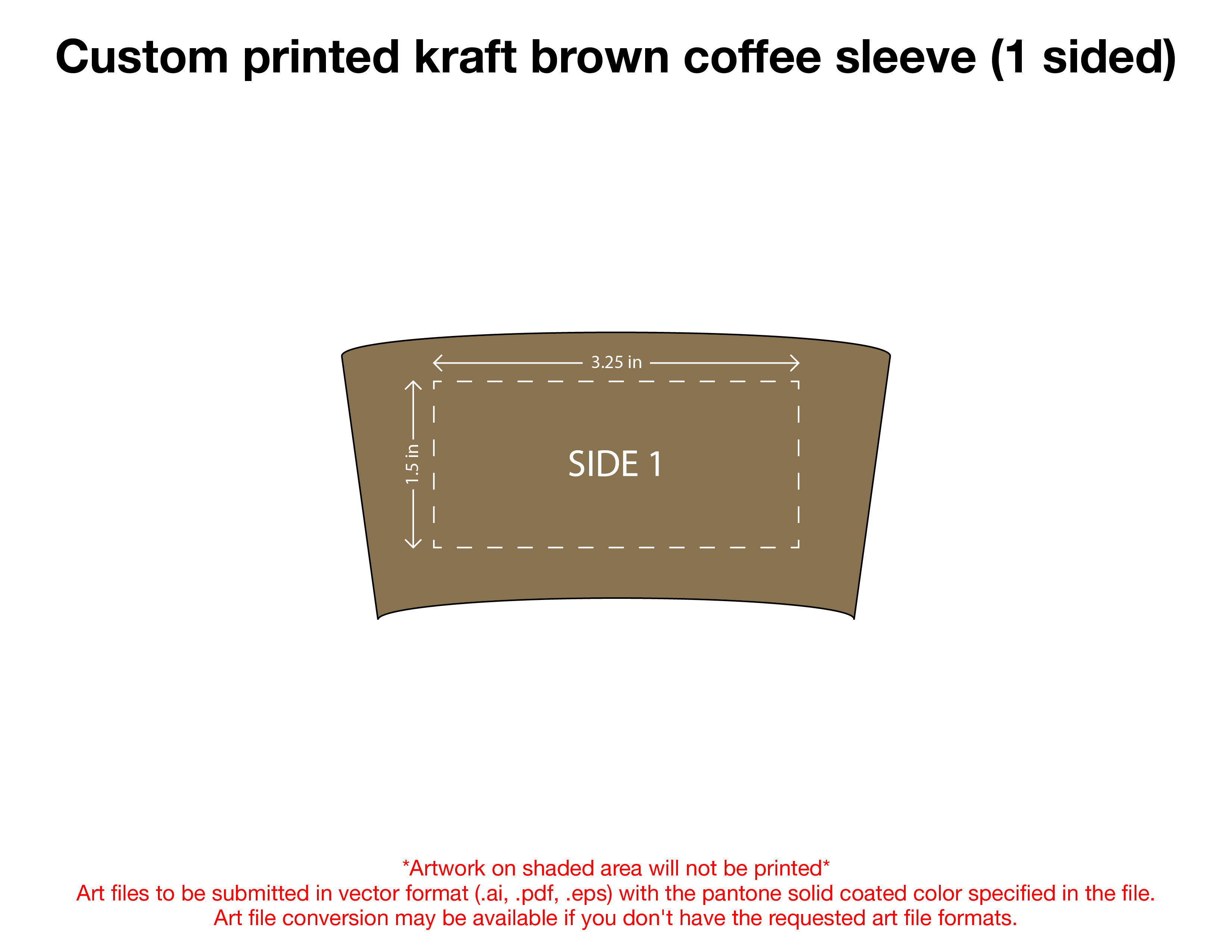 Custom Printed Kraft Brown Coffee Sleeve