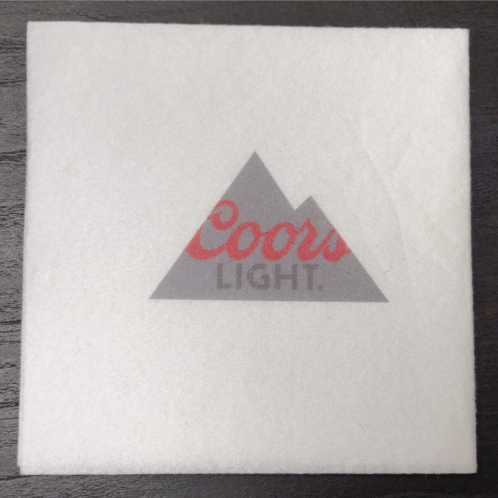 Custom Printed White Beverage Napkin (1,000/CS)