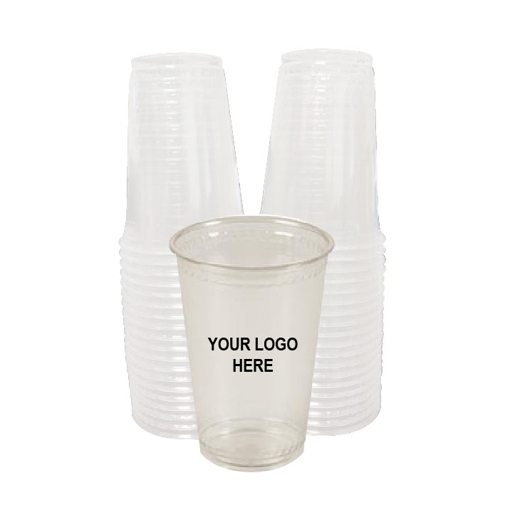 10 oz Clear PLA Plastic Cups (100/Pack)