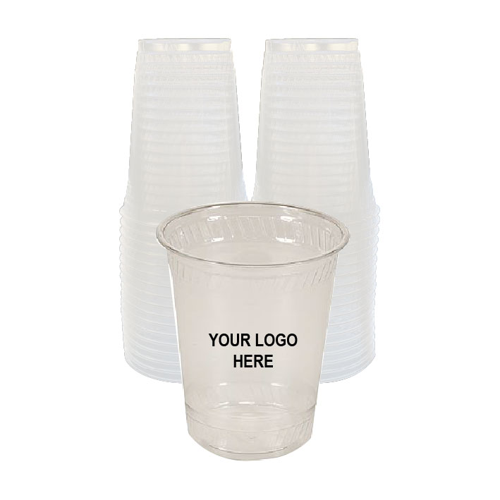 12 oz Clear PLA Plastic Cups (100/Pack)