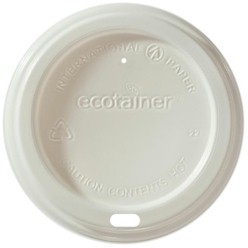 Biodegradable White Dome Lid
