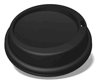 8 oz. Black Dome Lid (1,000/Case)