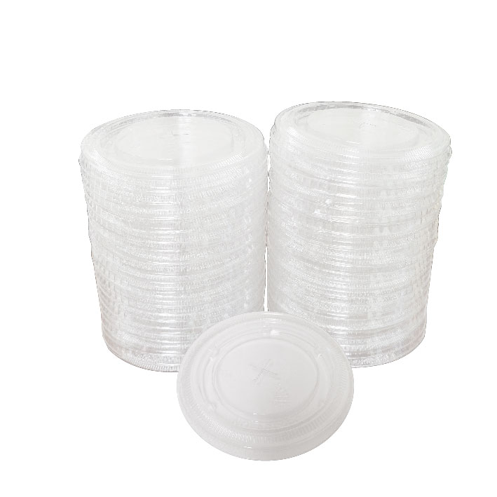 10 oz. Clear Straw Slot Lid (100/Pack)