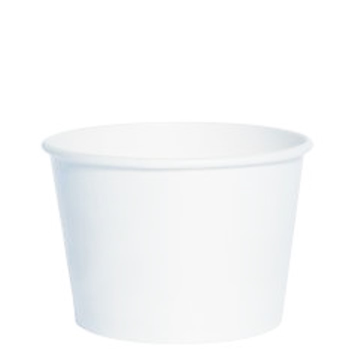 12 oz. Recyclable Gelato Paper Cup (1,200/Case)
