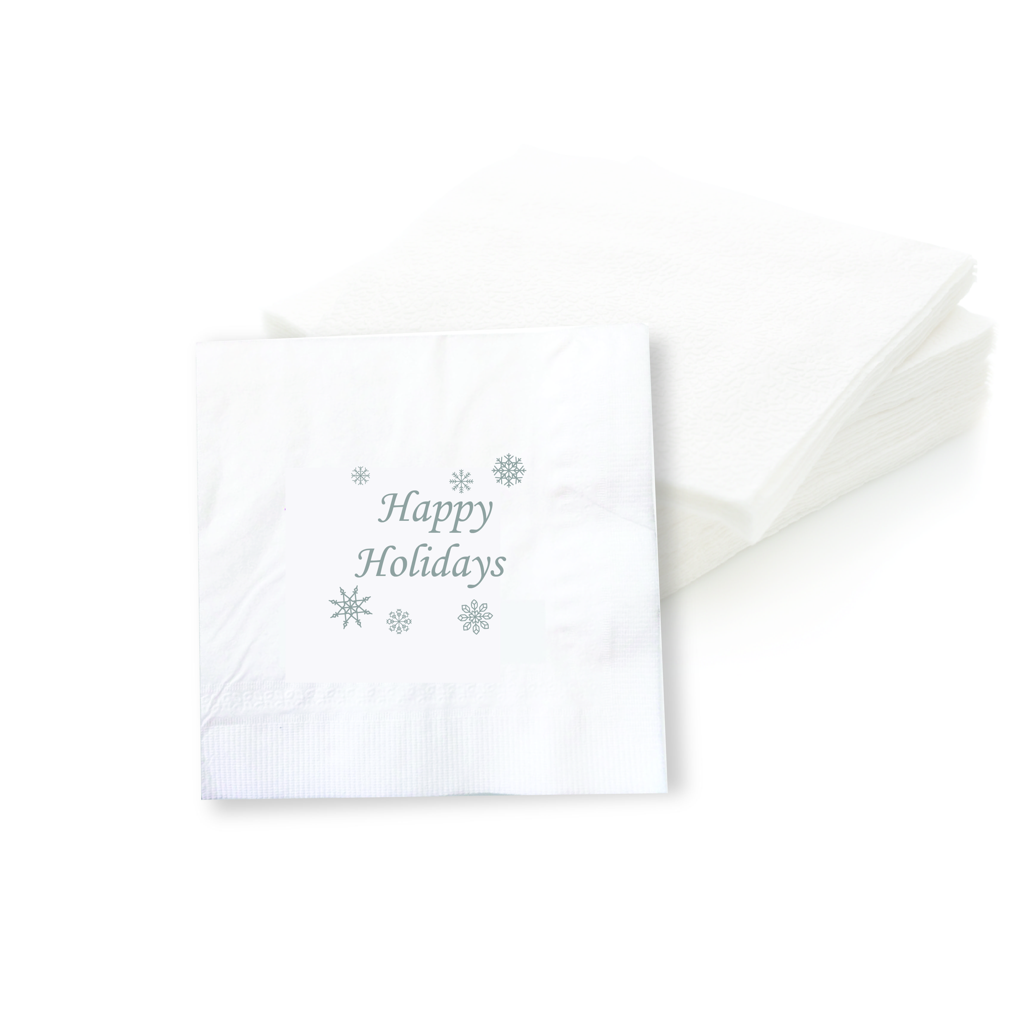 Happy Holidays Cocktail Napkins (Set of 50 Pieces)