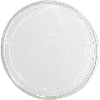 10 oz. Clear Flat Straw Lid