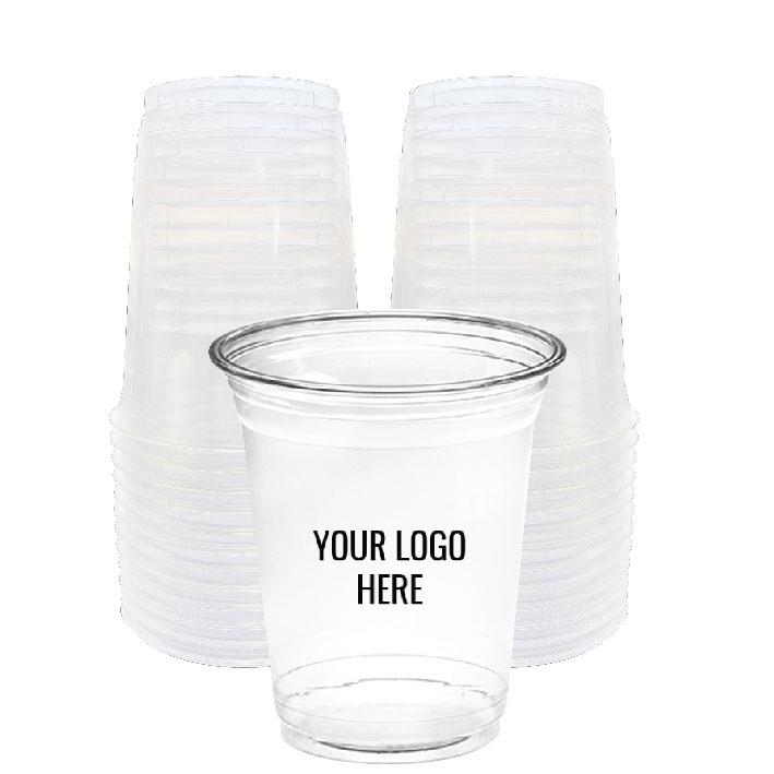 12 oz. Custom Printed Recyclable Plastic (100/Pack)