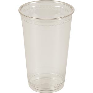 20 oz. Compostable Plastic Cup (1,000/Case)