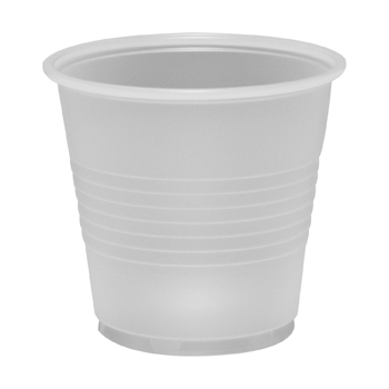 3.5 oz. Ribbed Translucent Plastic Cup