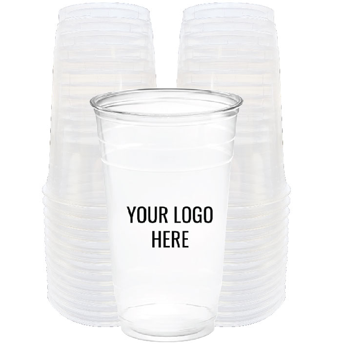 32 oz. Custom Printed Recyclable Plastic (100/Pack)