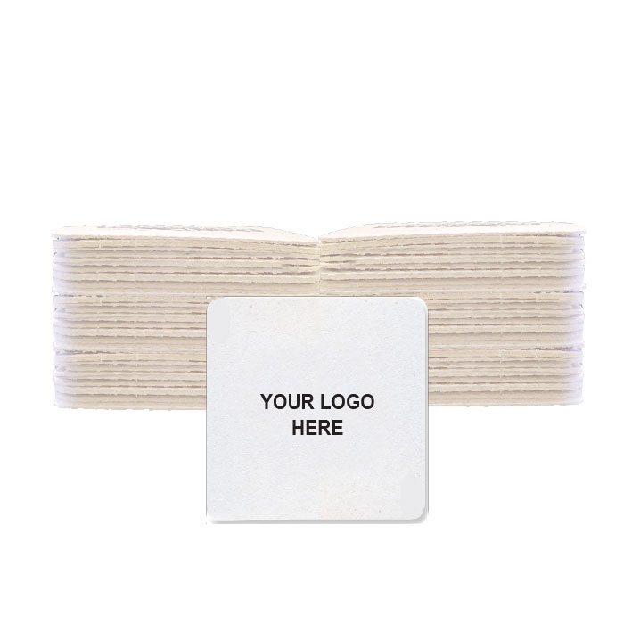 "4"" Custom Printed Medium-Weight Square Coaster (100/Pack)"