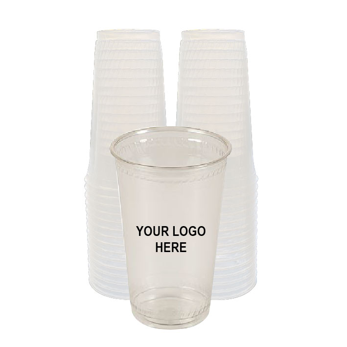 20 oz Clear PLA Plastic Cups (100/Pack)