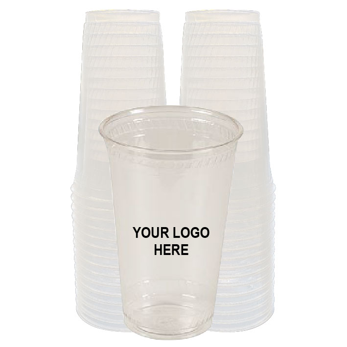32 oz Clear PLA Plastic Cups (100/Pack)