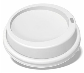 8 oz. White Dome Lid
