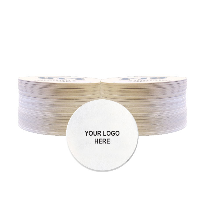 "Light-weight 3.5"" round coaster (100/Pack)"