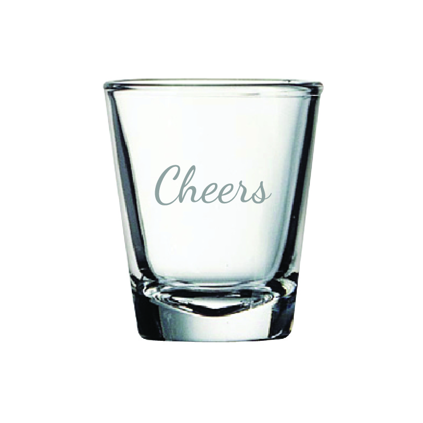 Cheers 2 oz. Shot Glass (Set of 12)