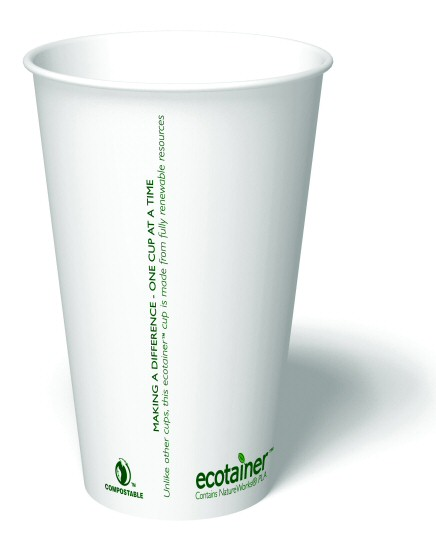 16 oz. Compostable Paper Cup (1,000/Case)