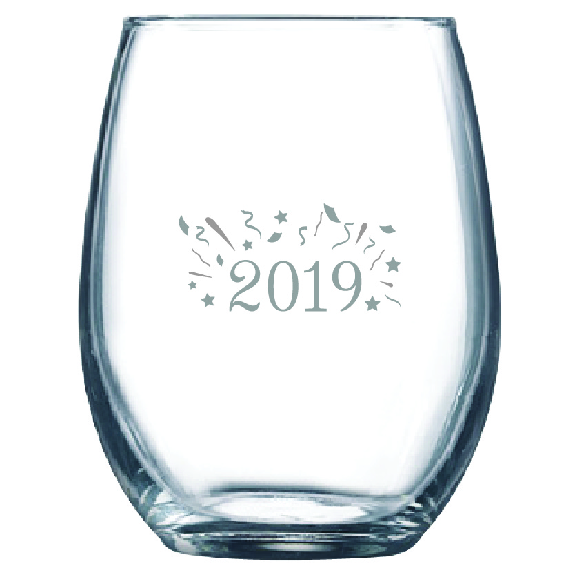 2019 9 oz. Stemless Wine Glass (Set of 12)