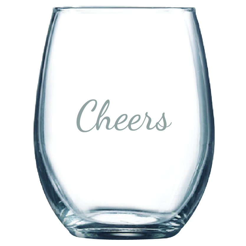 Cheers 9 oz. Stemless Wine Glass (Set of 12)
